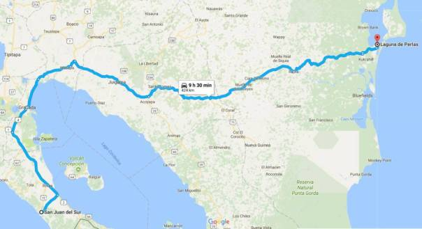 Motorcyel Ride: San Juan del Sur to Pearl Lagoon