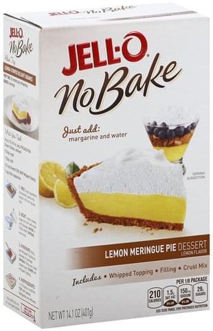 Jello Lemon Meringue Pie Recipe : jello, lemon, meringue, recipe, Lemon, Meringue, Flavor, Dessert, Nutrition, Information, Innit