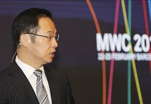 Ryan Ding, Executive Director of the board e Presidente Huawei Carrier Bg