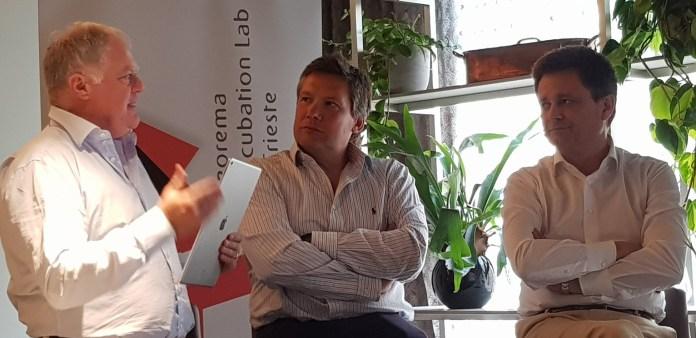 Tilt - Fabrizio Albergati, Marketing and PR Director di Teorema Engineering, Michele Balbi, Presidente Teorema Engineering e Stefano Casaleggi, Direttore Generale di AREA Science Park