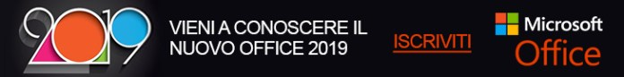 Vieni a conoscere il nuovo Office 2019