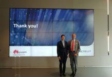 Federico Protto, Amministratore delegato di Retelit, e da Thomas Miao, Ceo di Huawei Italia