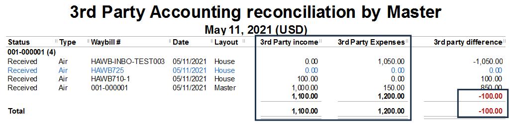 3rd party billing in Magaya report