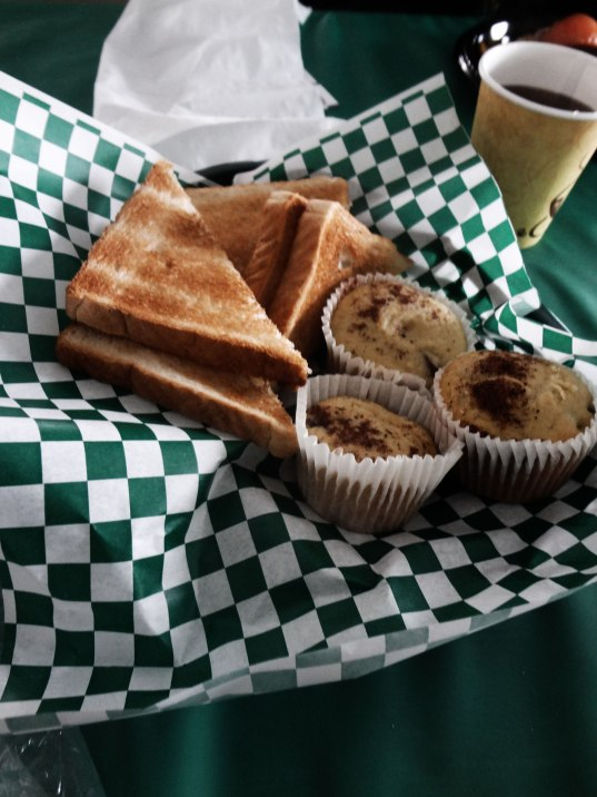 toast and muffins at brownes irish marketplace