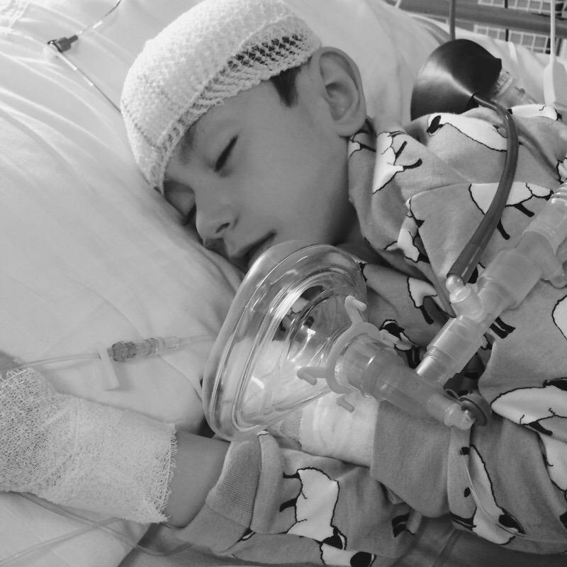 grayson in ICU