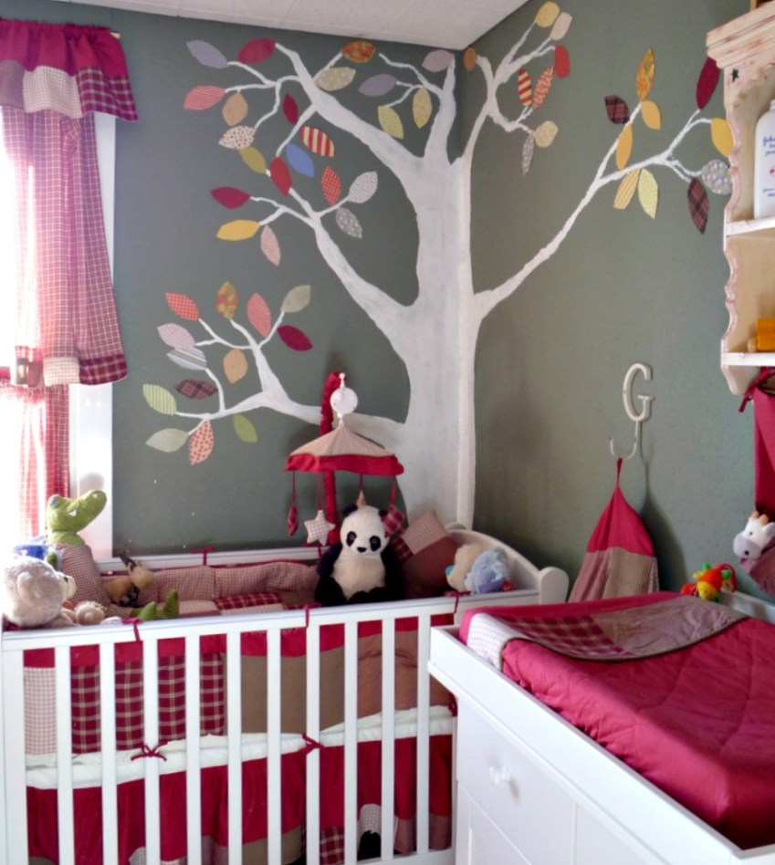 Boys Nursery with Green and Red Decor from Innocent Charms Chats