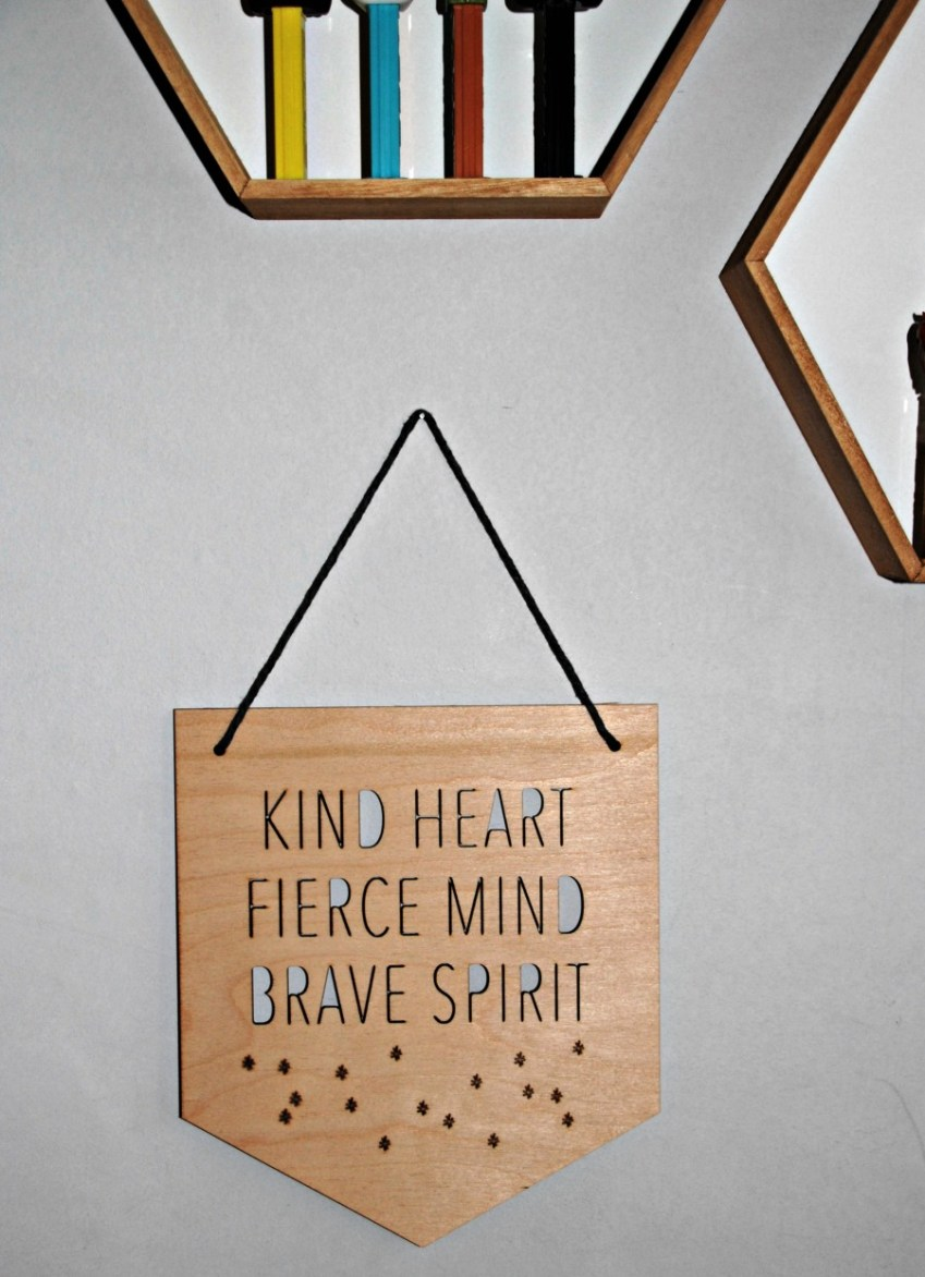 Corners of my Home sign from Buffalo and Bear at Innocent Charms Chats