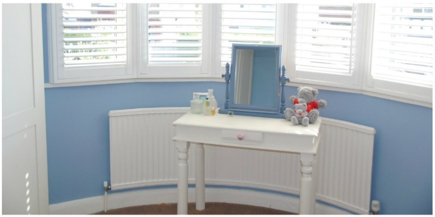 Look for inspiration of how to makeover a Master Bedroom in cool blue tones using Little Greene Paint from Innocent Charms Chats