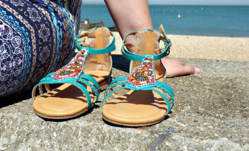 Beaded Wide Fit Sandals from JD Williams