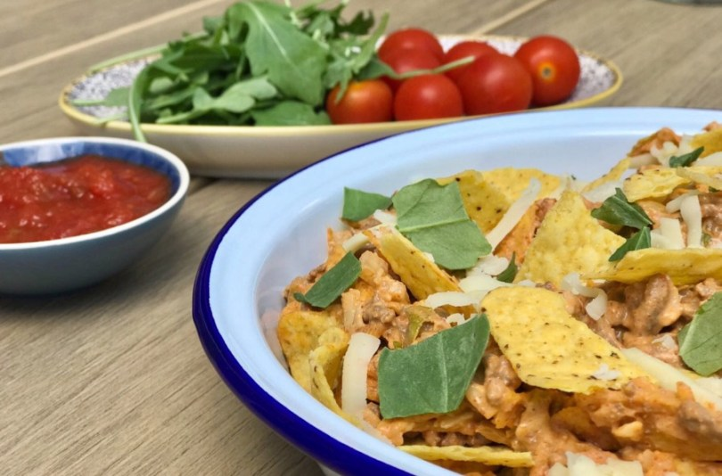 Taco Salad is an excellent alternative to sandwiches for a Picnic, or accompliment at a BBQ, find out more along with the recipe at Innocent Charms Chats