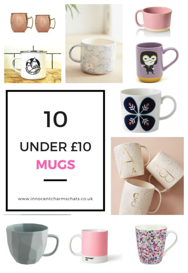 My top picks for 10 Under £10 Mugs on the UK Market by Innocent Charms Chats