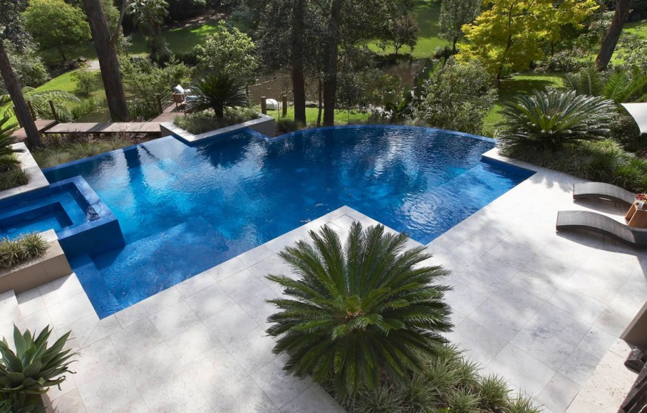 build your pool on a sloped yard
