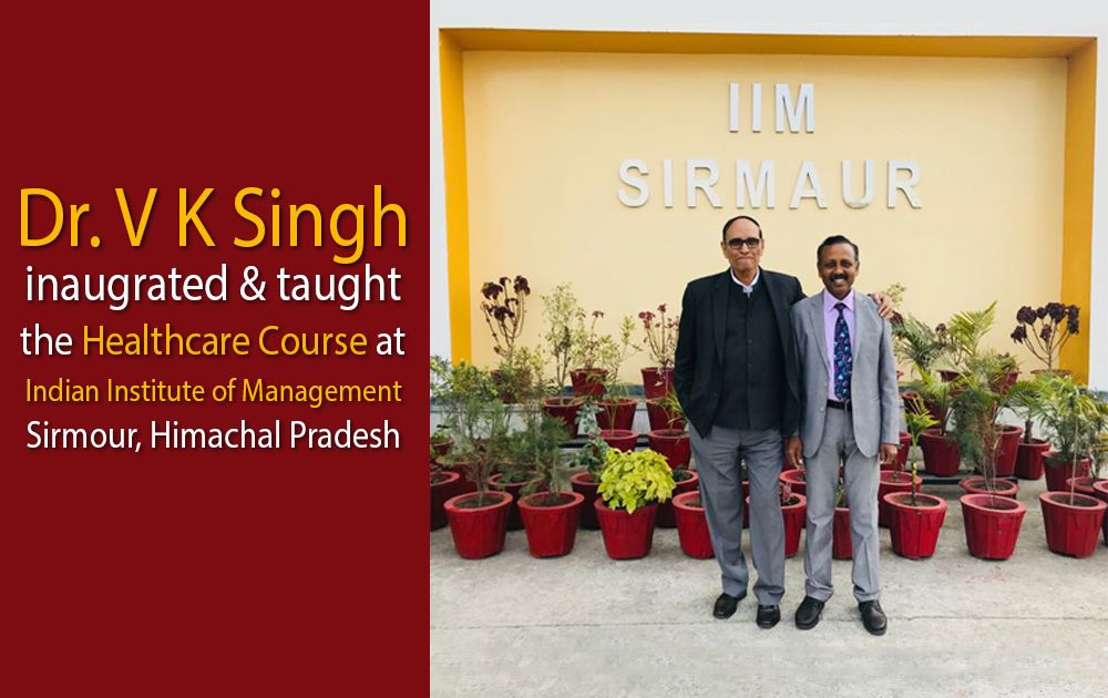 DR V K Singh is with Prof Prof. S Venkatramanaiah at IIM, Sirmour, Himachal Pradesh