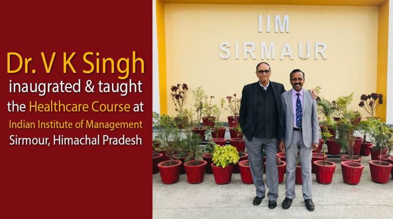 DR V K Singh is with Prof Prof. S Venkatramanaiah at IIM, Sirmour, Himachal Pradesh