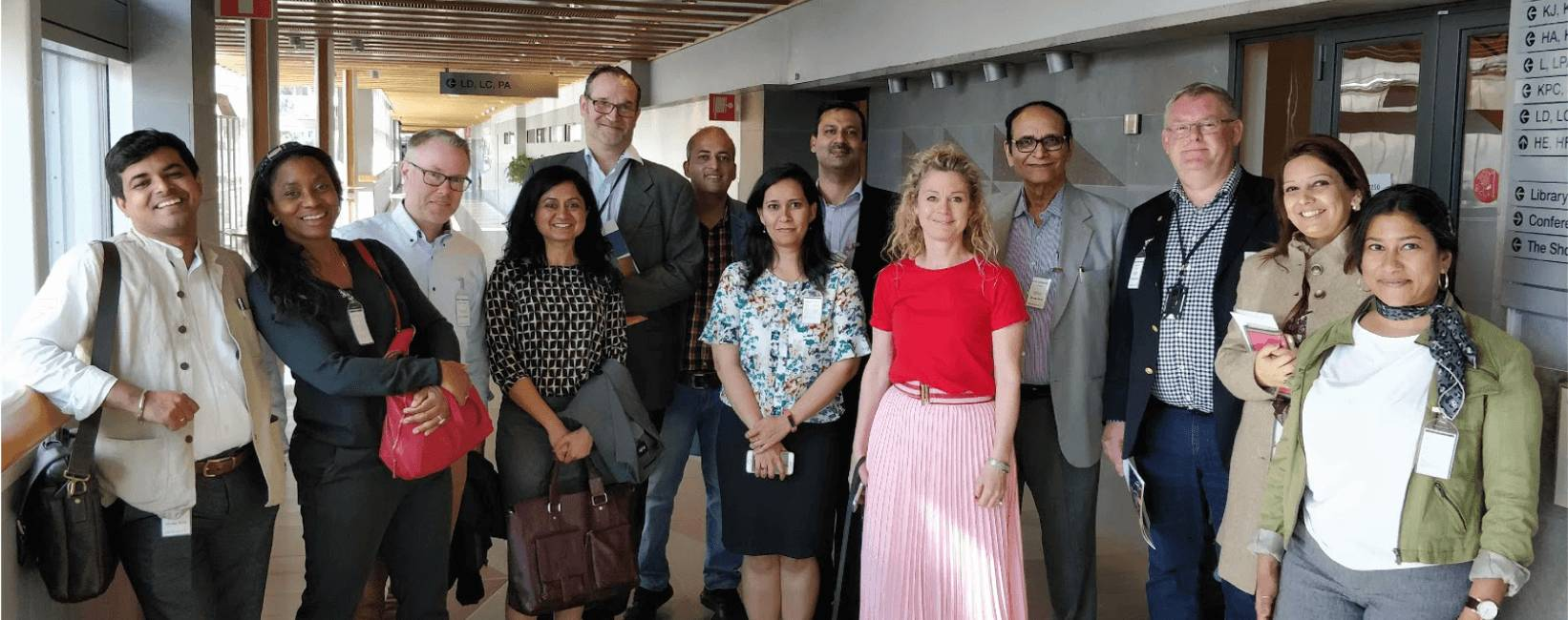 Figure 11: Indian delegation with Magnus, Pernila and Jesper from AZ BioVentures and GoCo City