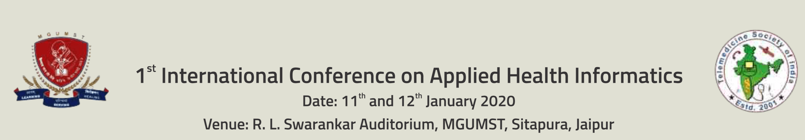 1st International conference on Applied Health Informatics