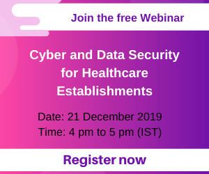 webinar Cyber and data security for healthcare establishments