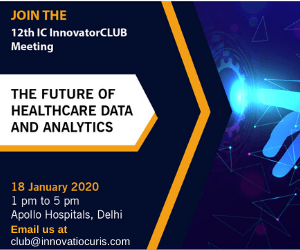 12th ic innovatorclub meeting role of healthcare data and analytics