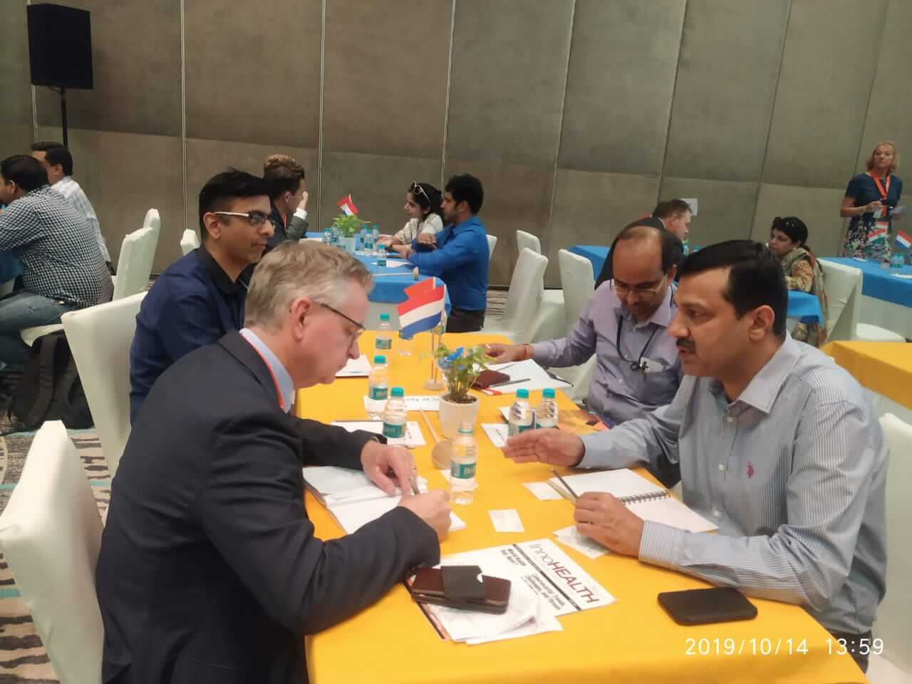 B2B meeting of Public Health Foundation of India representatives at the summit organised by CII in collaboration with the Netherlands
