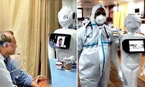 'MITRA'-the robot becomes a friend for covid-19 patients at noida hospital