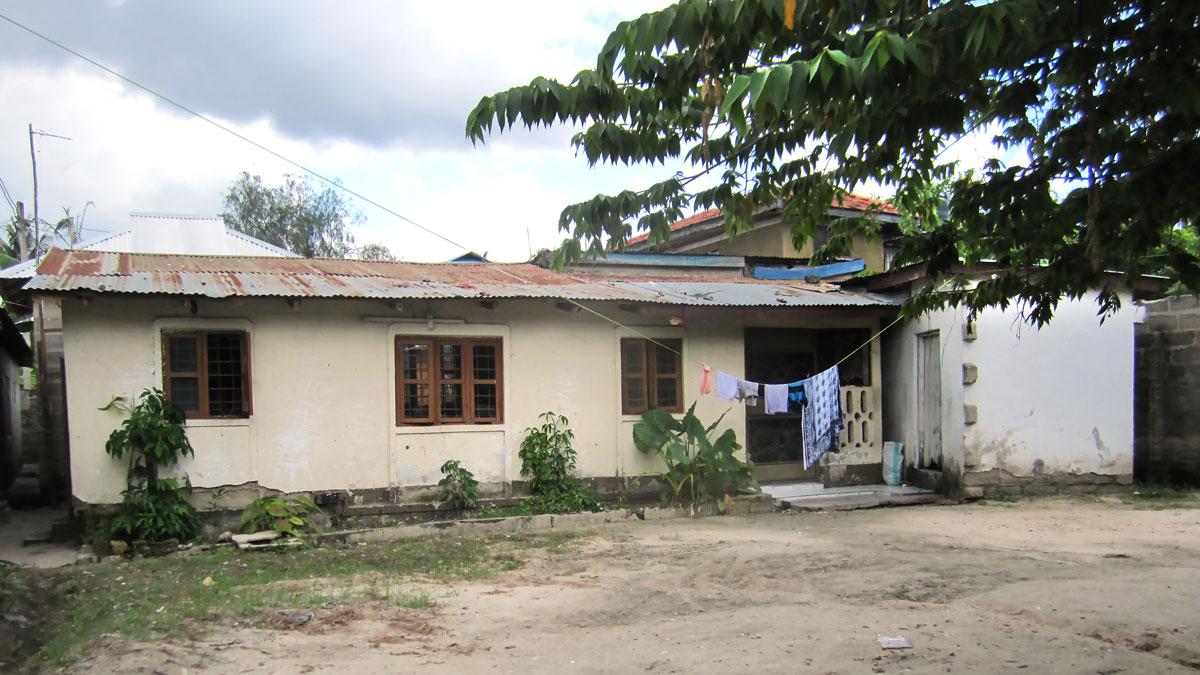 INNOQUA demo site Tanzania household connected to septic tank in Mlalakuwa