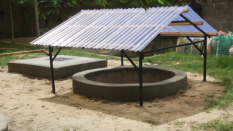 Mlakakua demo site: Pit for daphniafilter