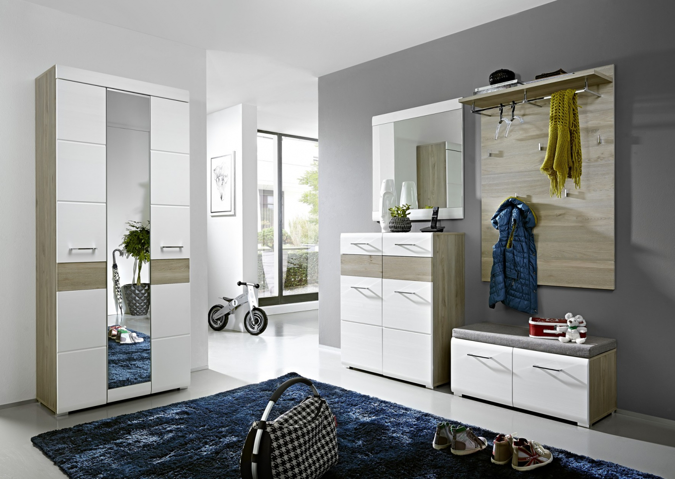 flur garderobe ber eck garderobe eiche free garderobe in san remo mit paneel. Black Bedroom Furniture Sets. Home Design Ideas