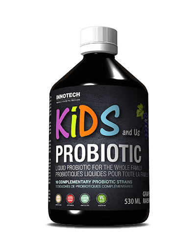 KIDS and Us Family Probiotic is a great tasting liquid probiotic. The beneficial bacteria in probiotics help with digestion, improve nutrient absorption and promote normal regularity.