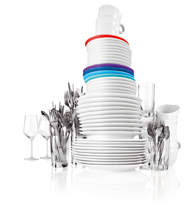 Bosch bulaşık makinesiyle köpüklü tabak takımı