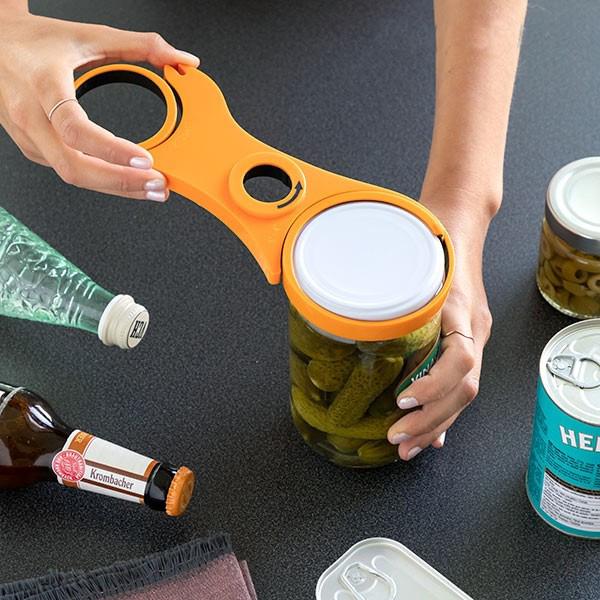 Abre-frascos multifunções 5 em 1