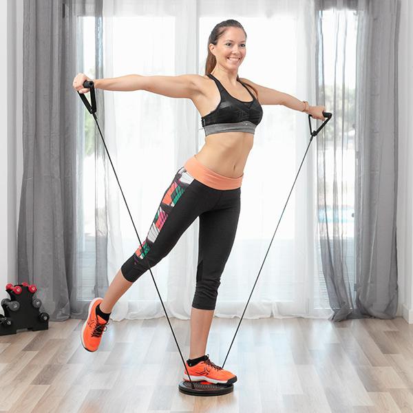 Disco Giratório para exercícios cardio com guia de exercícios