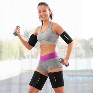 Faixas efeito sauna para braços e pernas