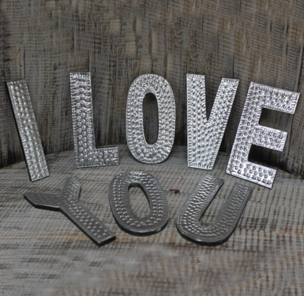 Letras Decorativas I Love You