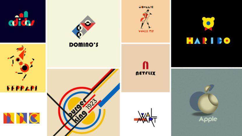 100 años de Bauhaus cómo se verían los famosos logos de hoy en estilo Bauhaus e1552544739504 - Marcas famosas con motivo del centenario de la Bauhaus