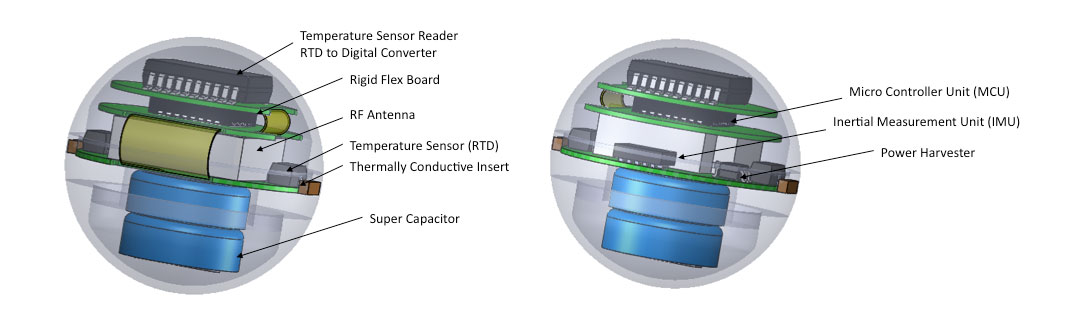 Sentinel Smart Sensor Ball cutaway view