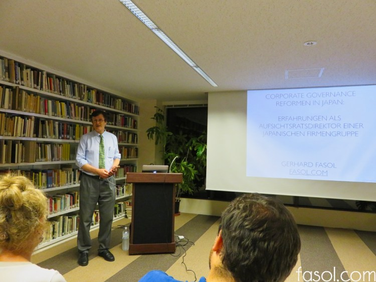 Gerhard Fasol: Corporate governance reforms in Japan: hands-on insights as Board Director of a Japanese group