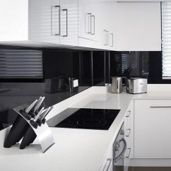 Backsplash Panels For Kitchen Commercial Style Faucet High Gloss Acrylic Wall - Back Painted Glass ...