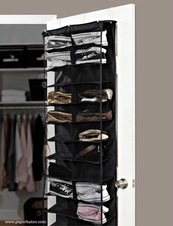 shoe storage in a columbus custom closet