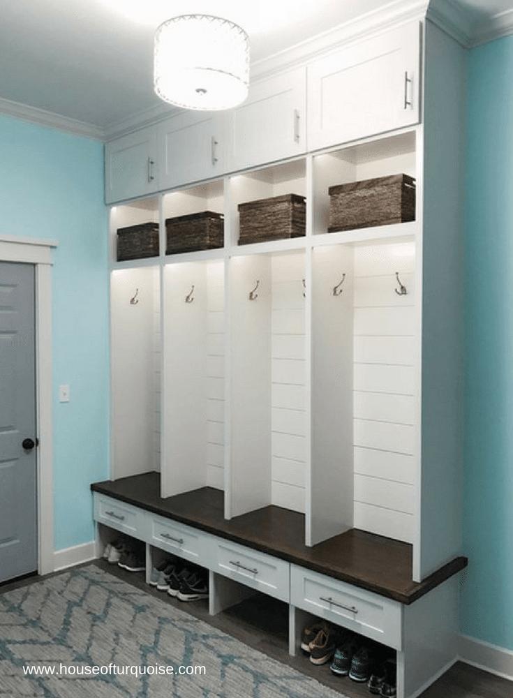 Columbus Mudroom Cabinet Organization and Storage Ideas