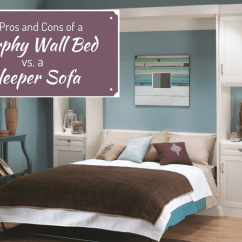 Where To Get Rid Of A Sleeper Sofa Surefit Cover Review Pros Cons Murphy Wall Bed Or For Columbus Loft The And Vs Innovate