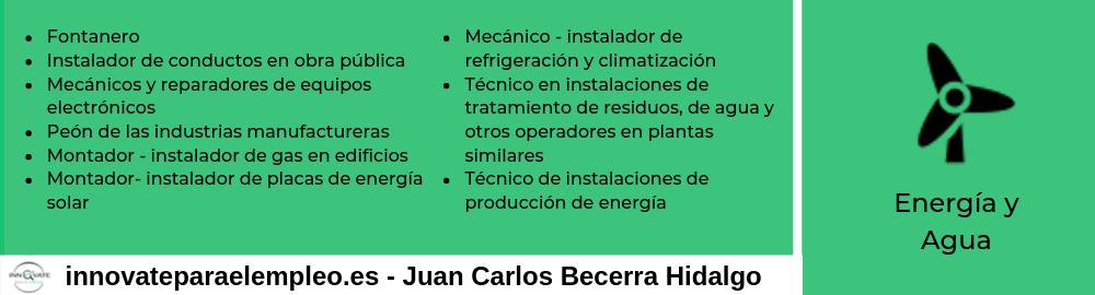 Portales de empleo del sector de la energía y el agua