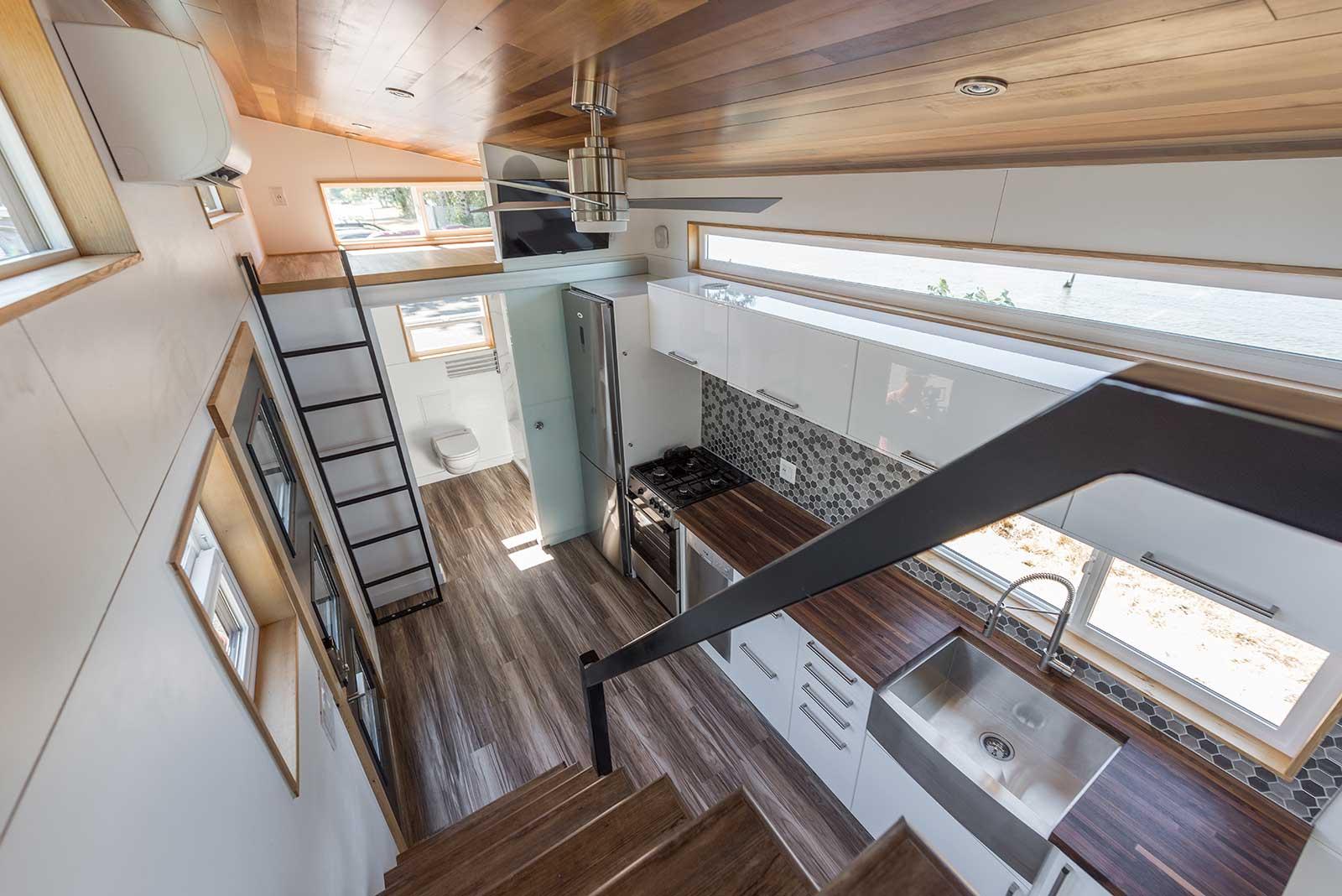 Catalina - Tiny Innovations on rv loft, off-grid homes with loft, design loft, diy loft, mobile home loft, cozy loft, tiny houses, california loft, small loft, prefab loft, micro house with loft,