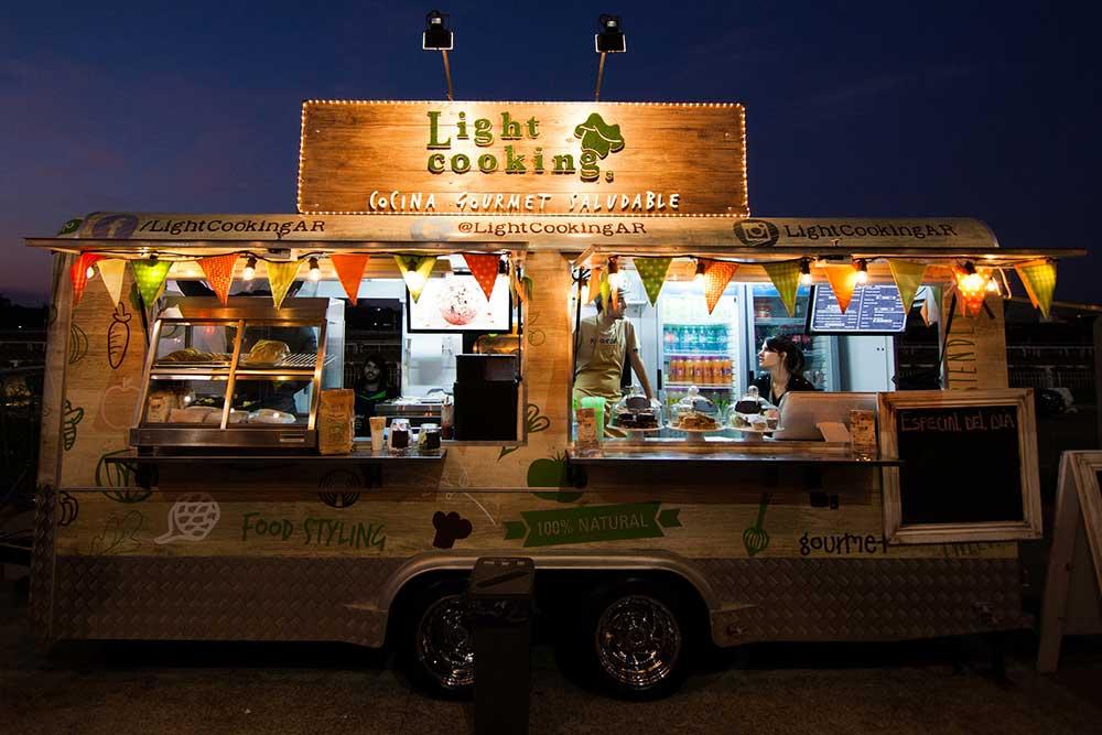 Custom food cart trailer