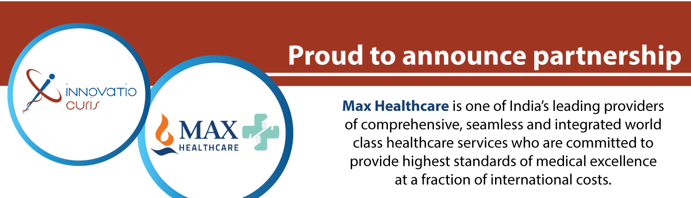 Max Healthcare - Partner of InnovatioCuris - website banner