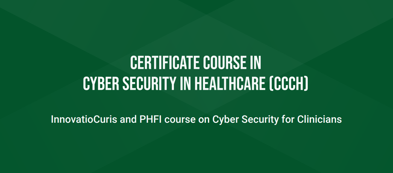 Online event - Certificate course in Cyber Security in Healthcare