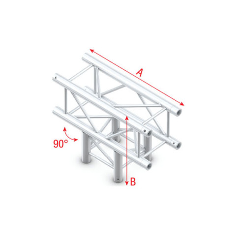 Box Truss 290cm Prolyte Ends, 3 Way T « Innovation Productions