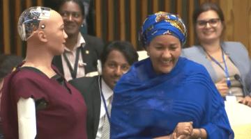 AI Sophia at the UN Assembly