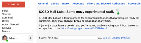 , Extending Gmail with Google Labs, ICCSD Technology & Innovation Blog