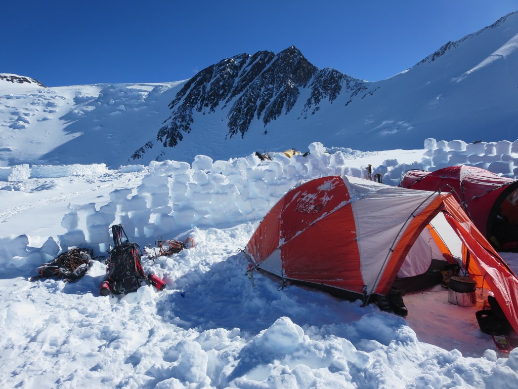Naira Musallam and Tim Lawton: Camp on Denali (Image Credit: Naira and Tim)