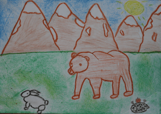I drew this picture because the Carpathians are my favourite place in Ukraine where I go skiing in winter. These animals live in the mountains.